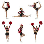 Cheerleading pose — Stock Photo