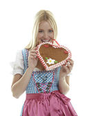 Woman in Dirndl — Stock Photo