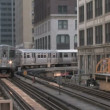 Elevated Train in Chicago - Stock Photo