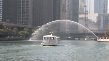 Water Stream Chicago River — Stock Video