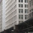Elevated Train in Chicago — Stock Video