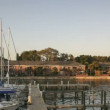 Timelapse Sundown harbor - Stock Photo