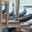 Stock Video: Gondolas in Venice
