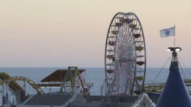Santa Monica Pier — Stock Video