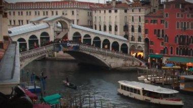 Rialto Bridge Timelapse — Vídeo de stock