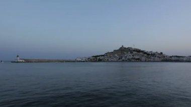Castelo de eivissa sunset — Vídeo stock