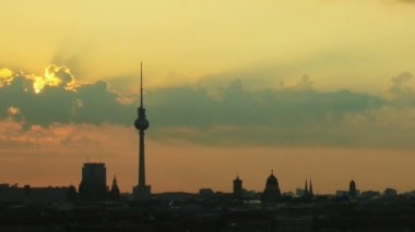 Sunrise Berlin — Stok video