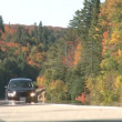 Stock Video: Fall Colors Highway