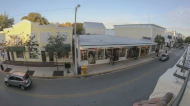 Duval Street Key West Fischeye — Stock Video