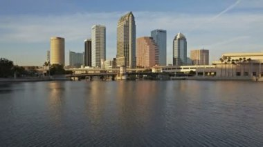 Timelapse Tampa Sunset Skyline — Vídeo de stock