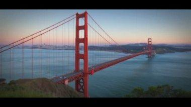 Timelapse сан франциско мост золотые ворота — Стоковое видео