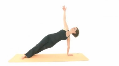 Yoga asana — Video Stock