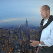 Man in front of New York - Stock Photo