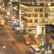 Traffic at night on 8th Ave — Wideo stockowe