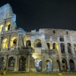 Stock Video: Colosseum at twilight