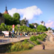 Stock Video: Eltville at Rhine Timelapse