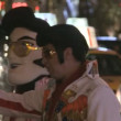 Stock Video: Elvis Lookalikes