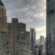 Urban Canyon HDR Timelapse — Stock Video