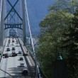 Time lapse Lions Gate Bridge - Stock Photo