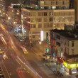 Traffic at night on 8th Avenue — Stok video