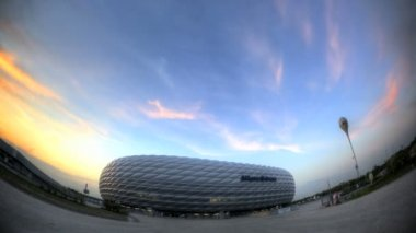 Football Stadium Fisheye — Stock Video