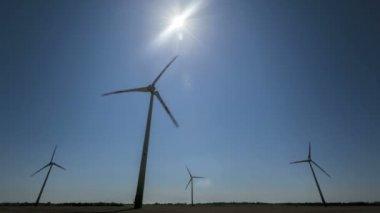 Timelapse Wind Turbines — Stock Video