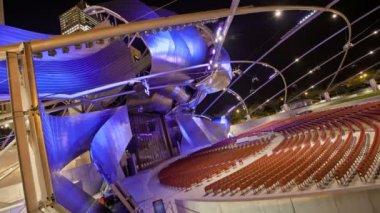 Timelapse Theater Millennium Park loopable — Stock Video