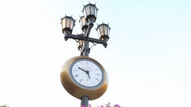 Horloge de rue historique — Vidéo