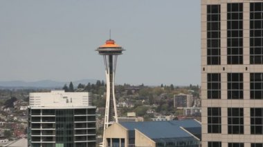 Seattle Space Needle — Stockvideo