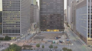 Dallas Sunrise Downtown Traffic — Wideo stockowe