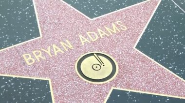 Walk of Fame Bryan Adams — Stock Video