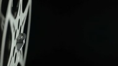 Film Reel 8mm black — Stock Video