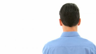 Man may not speak — Stock Video