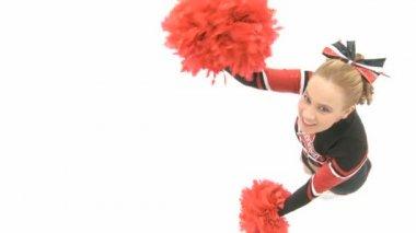 Cheerleader is dancing — Stock Video