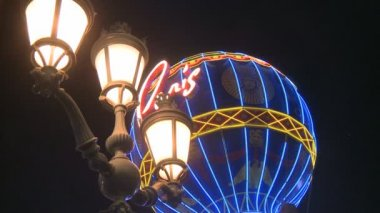 Balloon Paris Las Vegas — Stock Video
