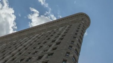 Timelapse Flatiron Building — Stok video