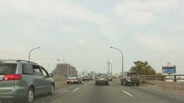 Timelapse Toronto Skyline Drive — Stock Video