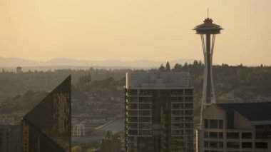 Seattle Space Needle Blackout — Vídeo de stock