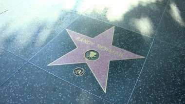 Walk of Fame Randy Newman — Stock Video