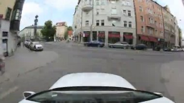 MUNICH, GERMANY - APRIL 22: Timelapse Car journey in timelapse through munich on April 22, 2011 in Munich, Germany