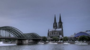 Cologne Cathedral Sunset — Stock Video
