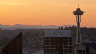 Seattle miejsce igły — Wideo stockowe