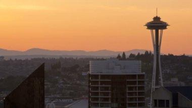 Seattle uzay iğnesi — Stok video