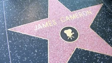 Walk of Fame James Cameron and Mel Brooks — Stock Video