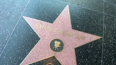 Walk of Fame Emma Thompson — Stock Video