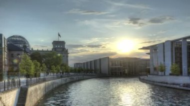 HDR Timelapse Berlin Spree — Stock Video