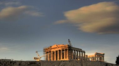 HDR Timelapse Parthenon Acropolis — Stock Video