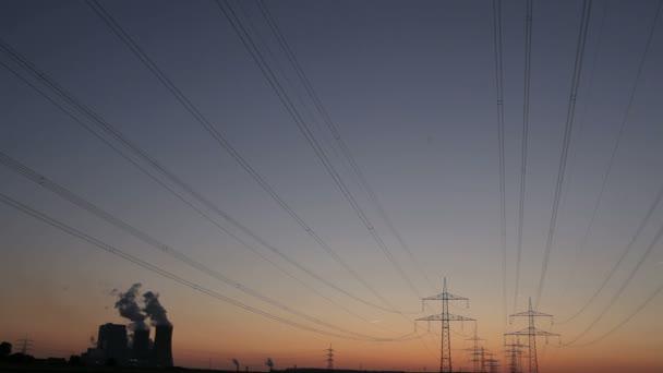 Parque Industrial hdr oscuro — Vídeo de stock