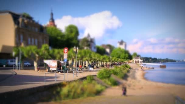 Eltville en el Rin timelapse — Vídeo de stock