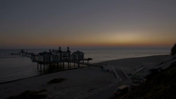 Jetée de sellin sunrise — Vidéo